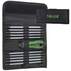Отвертка со сменными стержнями (битами) 11 штук HAUPA