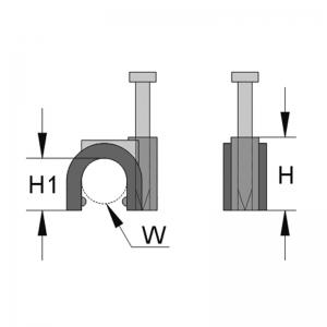 Скобы с гвоздем для кабеля 7,0*7,5 HAUPA