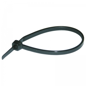 Кабельная стяжка (черная) нейлоновая 302*4,8 мм HAUPA