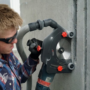 Система (насадка) пылеудаления штроборез-пылеотвод AirCHASER 230 мм