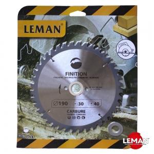 Пильный диск по дереву 190 мм LEMAN orange