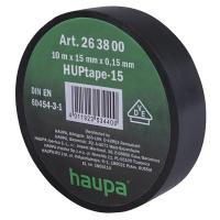 Изолента чёрная 10м*15мм*0,15мм термостойкая для профессионального использования HAUPA