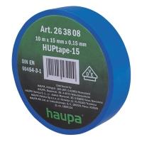 Изолента синяя 10м*15мм*0,15мм термостойкая для профессионального использования HAUPA