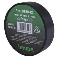 Изолента чёрная 20м*19мм*0,15мм термостойкая для профессионального использования HAUPA