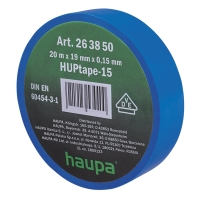 Изолента синяя 20м*19мм*0,15мм термостойкая для профессионального использования HAUPA