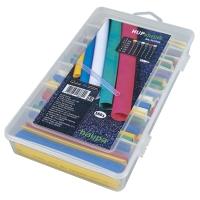 Набор цветных термоусадочных трубок 2:1, уп. 160 штук HAUPA
