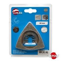 Алмазное дельтообразное полотно для реноватора (МФИ) по керамической плитке, камню, дереву 80x80 мм LEMAN