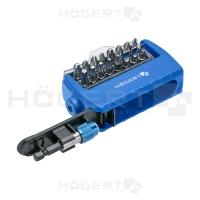 Отвертка/набор бит с битодержателем HOEGERT