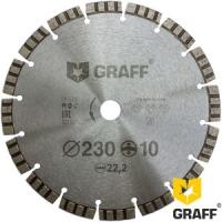 Алмазный диск (круг) 230 мм по АРМИРОВАННОМУ бетону GRAFF
