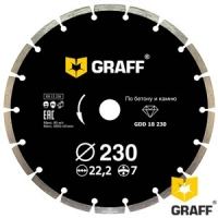 Алмазный диск (круг) 230 мм по бетону и камню GRAFF