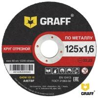 Отрезной круг (диск) по металлу 125x1,6x22,23 GRAFF