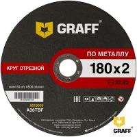 Отрезной круг (диск) по металлу 180x2,0x22,23 GRAFF