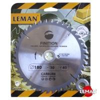 Пильный диск по дереву 180 мм LEMAN orange