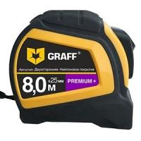 """Измерительная рулетка 8 м x 25 мм """"PREMIUM+"""" GRAFF"""